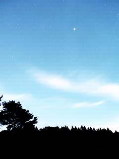 明け方の木星